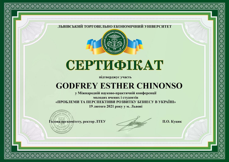 Godfrey Esther Chinonso